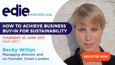 The 'How to achieve business-buy-in for sustainability' masterclass will be free to watch live at 11am on 22 June, and will be made available on-demand afterwards